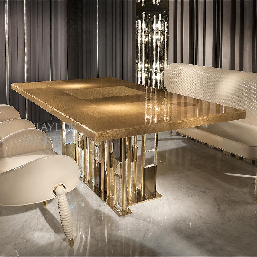 Luxury Dining Table Gold Murano Glass Taylor Llorente