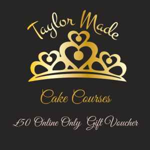 Taylor Made Cake courses gift voucher, buttercream tutorial gift voucher. Taylor Made Gift Vouchers, cake gifts, ow to make a buttercream gerbera, how to pipe buttercream frosting flowers, how to make buttercream flowers,