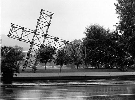 Corrid'art installation on McGill University grounds - 1976