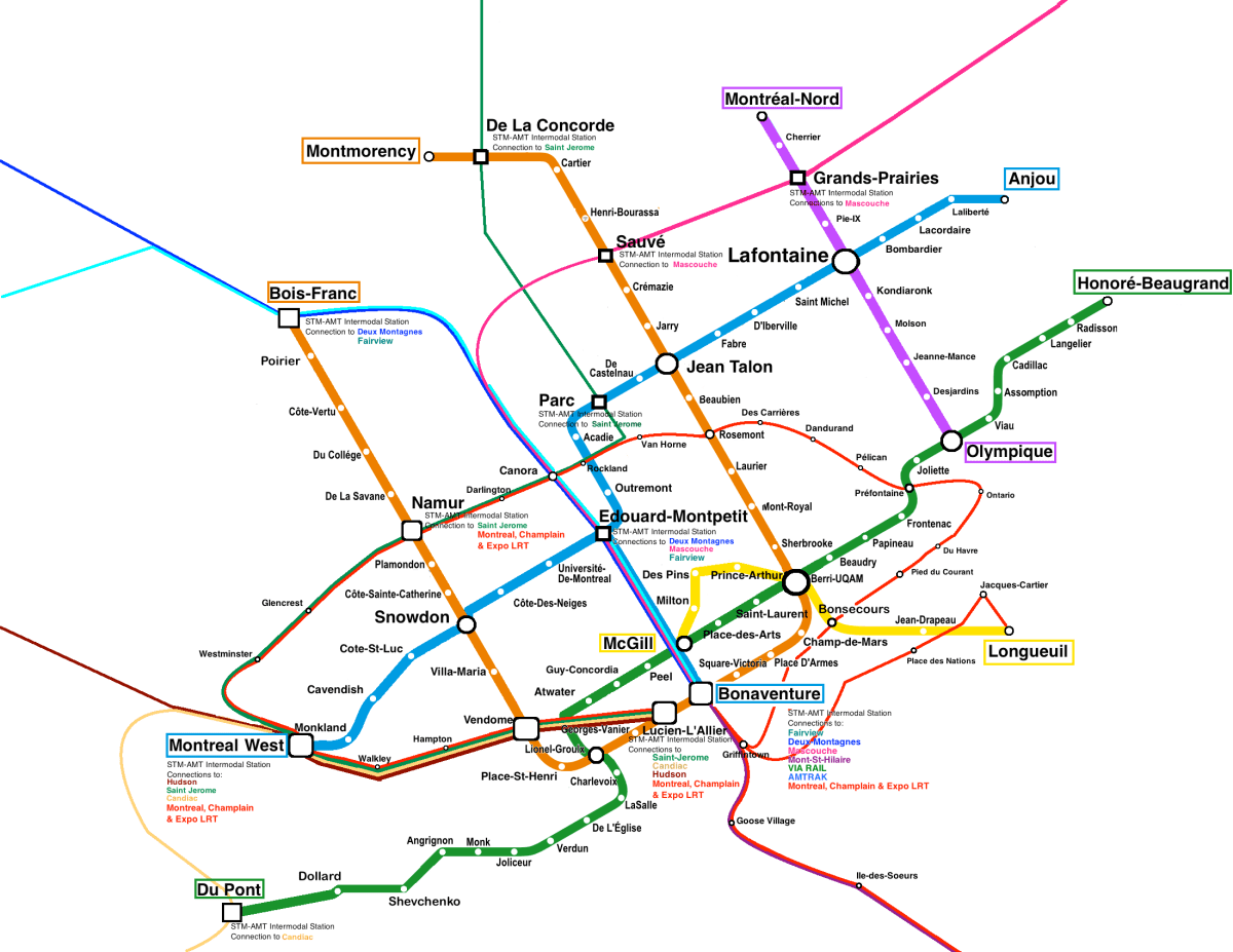 Montreal Subway Map Scale.Fantasy Montreal Transit Map Taylornoakes Com