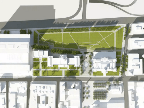 City of Montreal plan for the renovation of Place Vauquelin