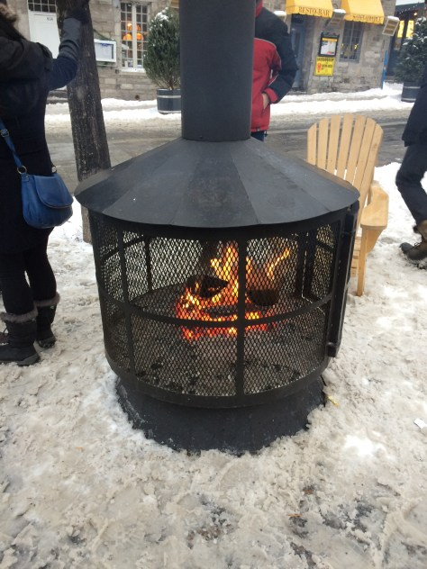 Fire pit, Place Jacques Cartier - January 2016