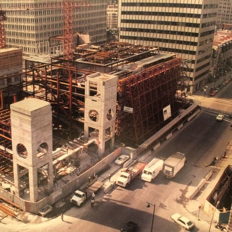 Desmarais Pavilion under construction - 1990
