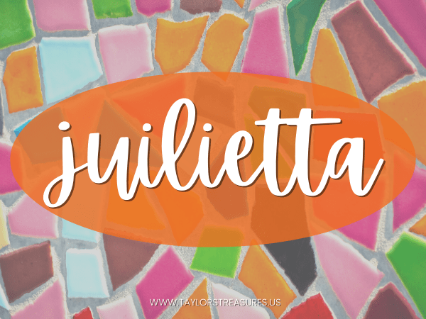 4-5 syllable girl names - Julietta