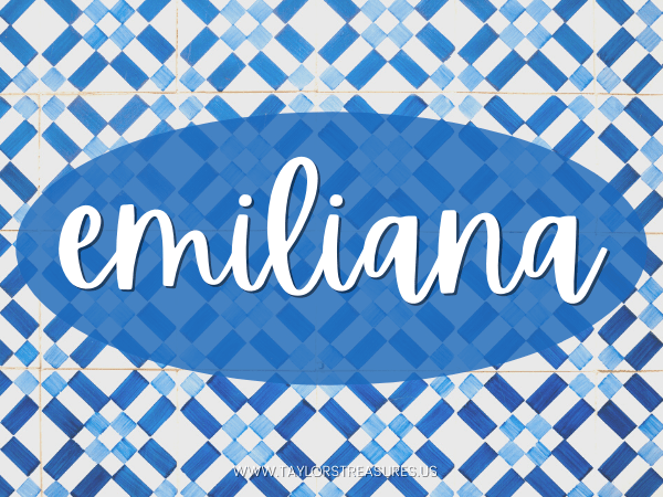 4-5 syllable girl names - Emiliana