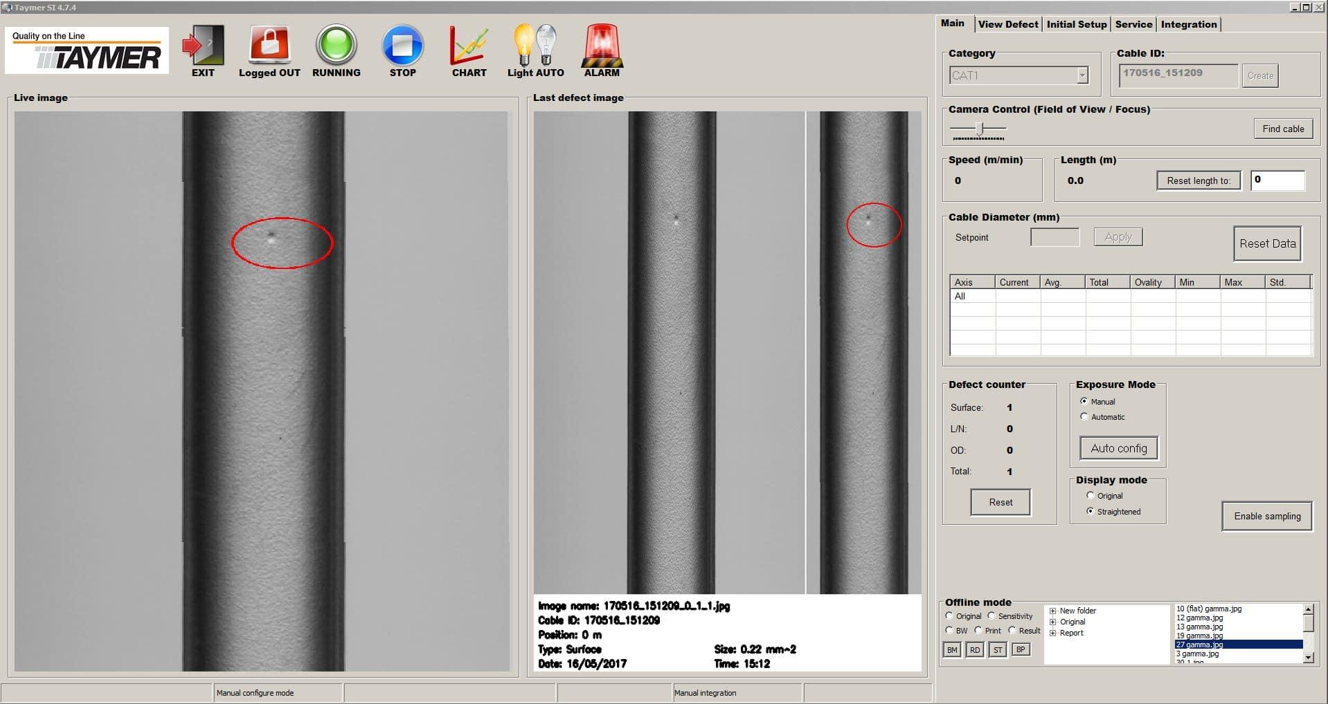 SI3100-MED - Medical Tubing Surface Defect Pin Hole Contaminant Black Spot
