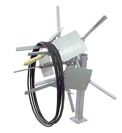 LR100-200 - Collapsible 8 inch I.D. Reeler Coiler - Open