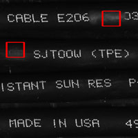 wire cable print verification