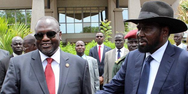 Südsudans Präsident Kiir und Vizepräsident Machar
