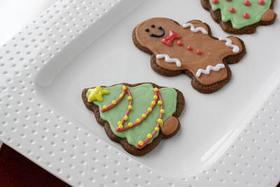 Gingerbread cookies to give as Christmas gift