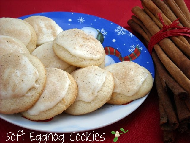 soft eggnog cookies as a gift