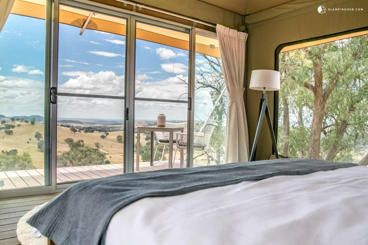glamping with a view in new south wales australia