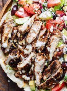 taza grill east lyme chicken shawarma salad