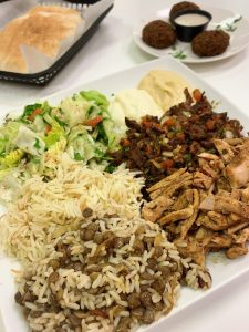 taza grill east lyme mixed shawarma platter