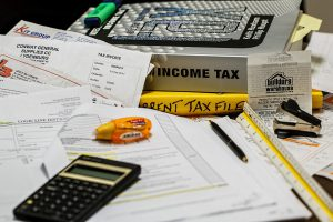 photo of tax forms to illustrate business tax security reminders