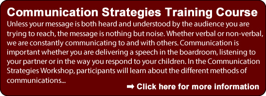Communication Strategies Training Course