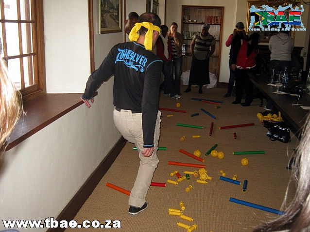 Blindfolded Minefield Team Building Exercise