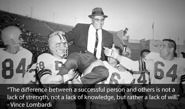 Vince Lombardi Team Building Quotes