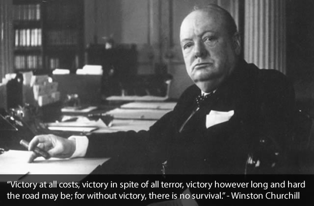 Winston Churchill Team Building Quote