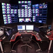 IntelliTrac Control Room with red-plexi finish