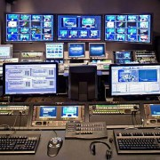 Broadcast Control Room with IntelliTrac, TracWall, and SmartCarts