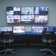 """Angled 25"""" Bay ControlTrac-LT Security Console with Drop wells"""