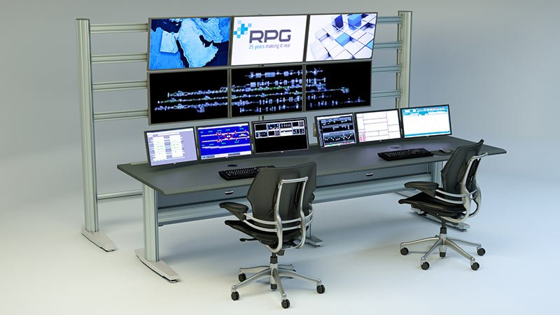 Command Console with Monitor Wall