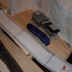 Erste Stellprobe vom Sägewerk in Waldesruh