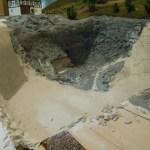 Gipsarbeiten am Steinbruch