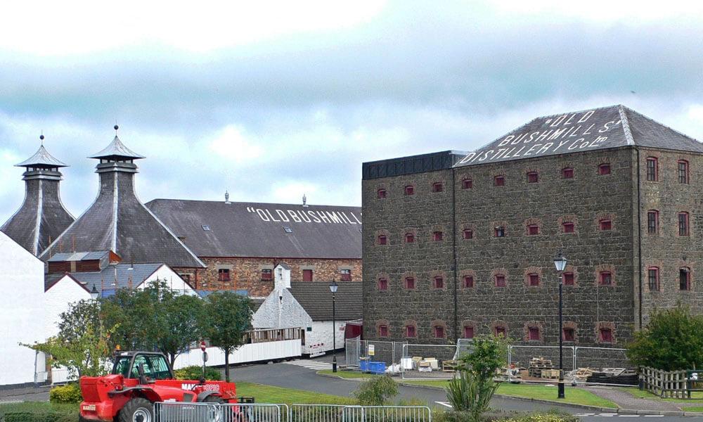 Old Bushmills Destillerie in Irland
