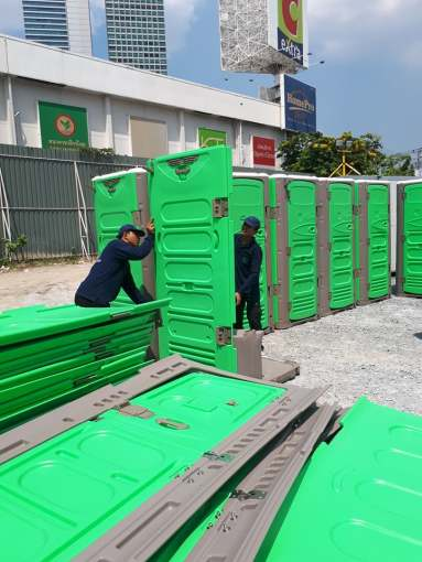 Hong nam portable toilets in Thailand