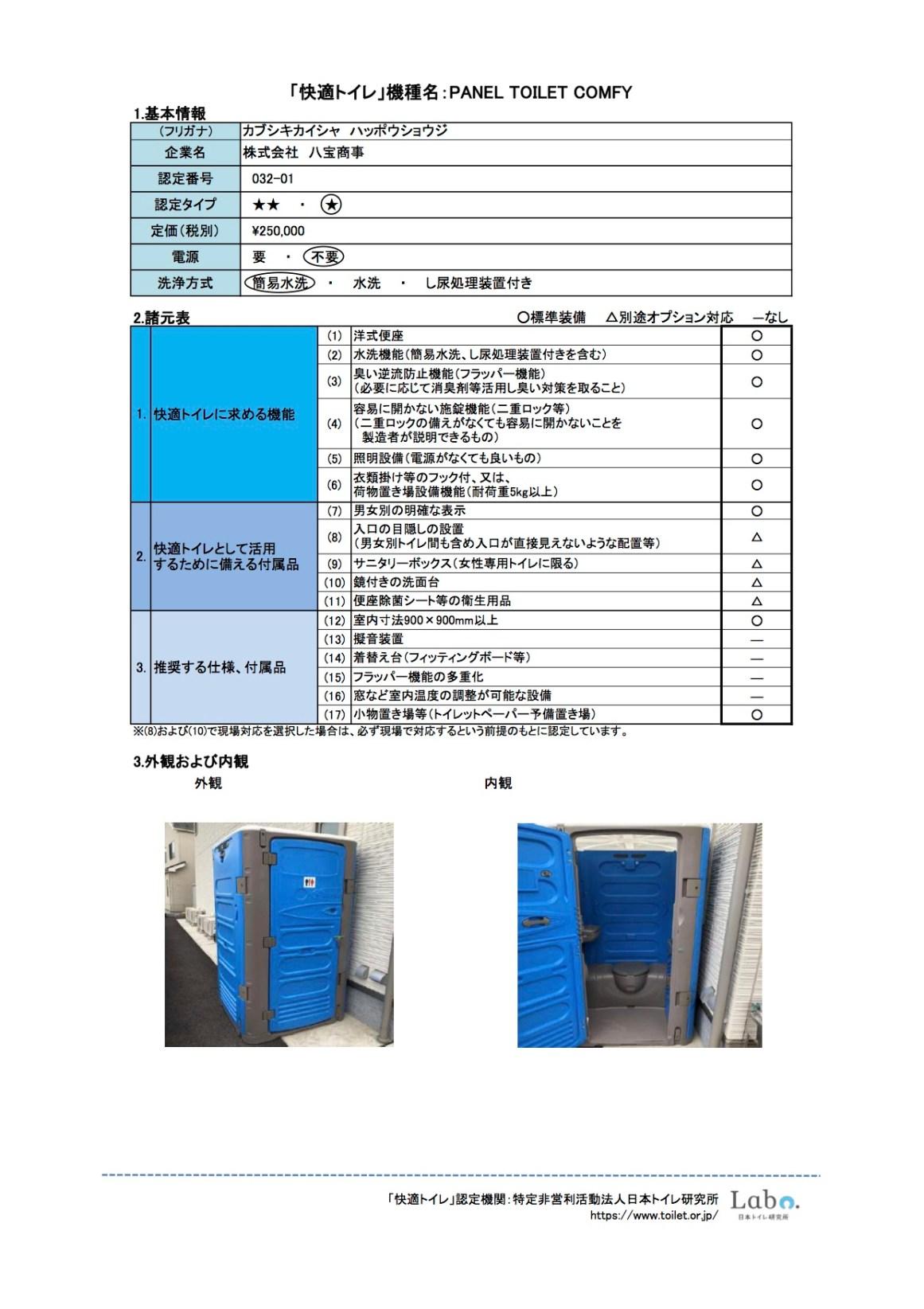 RapidLoo Comfy Toilet