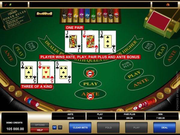 Three Card Poker Casino Game - Play 3 Card Poker for Fun ...