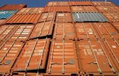 shipping orange containers