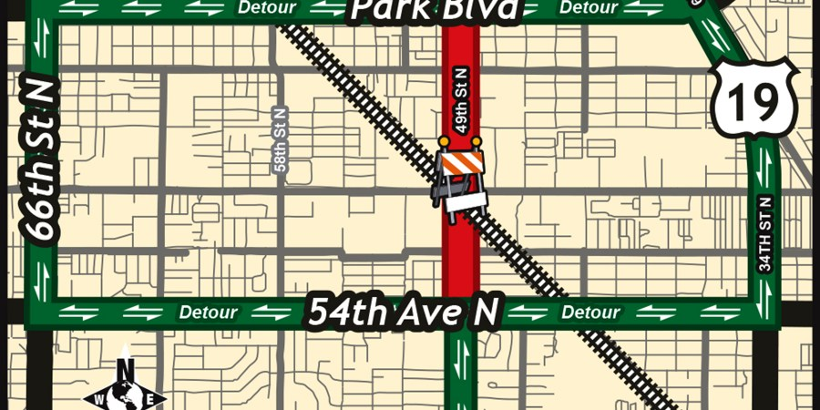 49th Street N | Road Closing | Pinellas Park
