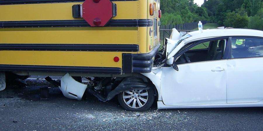 Hernando School Bus   Hernando Crash   Bus Rear Ended