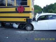 Car Rear Ends Hernando School Bus