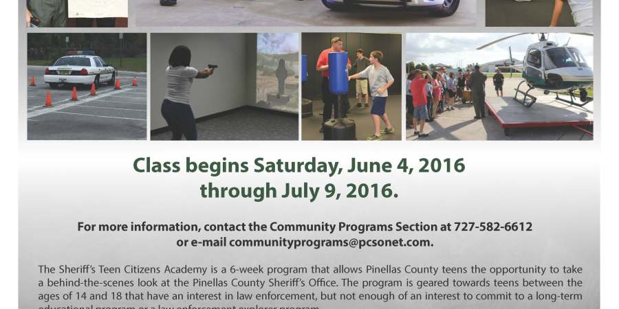 Pinellas Sheriff |Teen Citizens Academy | Public Safety