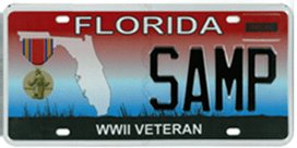 Military License Plate | Florida License Plate | Car License Plate