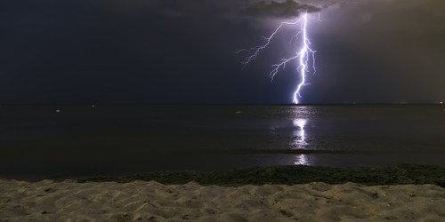 Lightning Strike | Storm | Beach