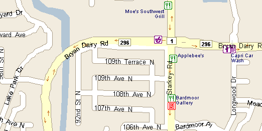 Locater Map | Florida Highway Patrol | Bryan Dairy Traffic Crash