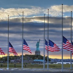 American Flags   Statue of Liberty   Terrorist Attack
