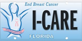 Breast Cancer License Plate | Specialty License Plates | Florida Breast Cancer Foundation