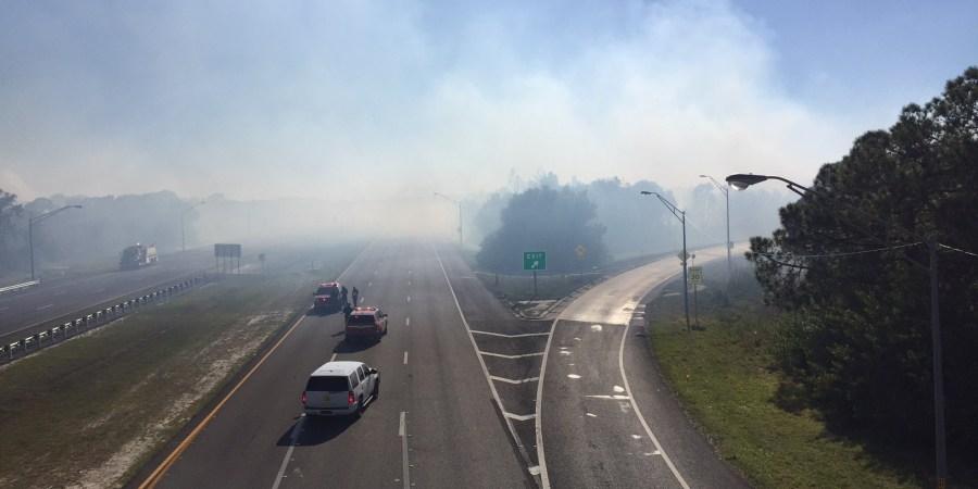 I-275   Gandy Boulevard   Brush Fire