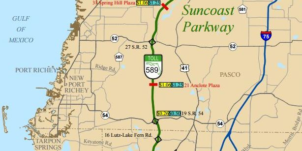 Suncoast Parkway | Pasco County | Wildfires