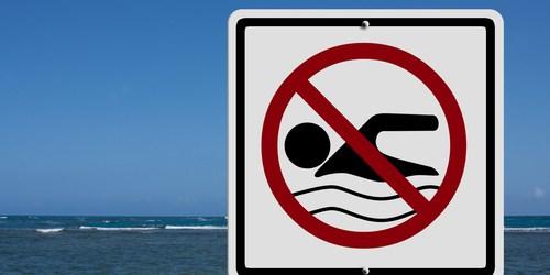 No Swimming | Beach Closed | Sports