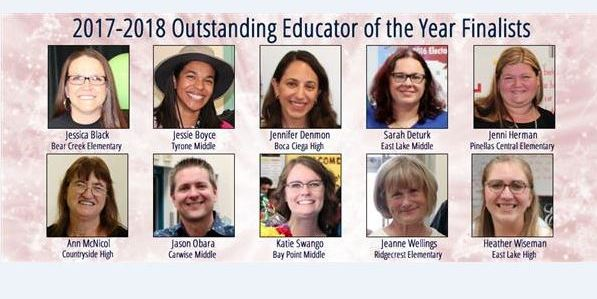 Educator of Year Finallists | Pinellas Schools | Education
