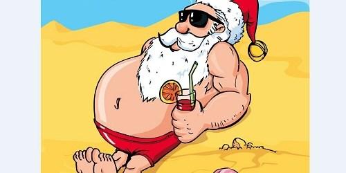 Sunbathing Santa | Chirstmas | TB Reporter