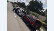Driver Cited After Crash with Deputies' SUVs