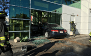 Two Seriously Injured When Car Crashes into Bank